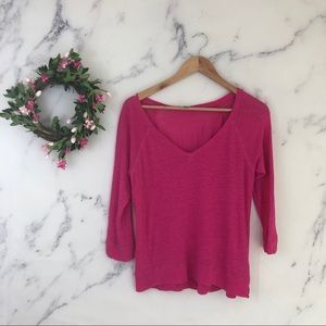 Halogen Linen Blend V-neck Sweater